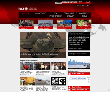 site de Radio Canada International